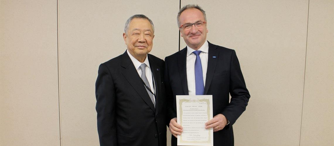 Novoferm Habitat reçoit l'Award présidentiel du groupe Sanwa