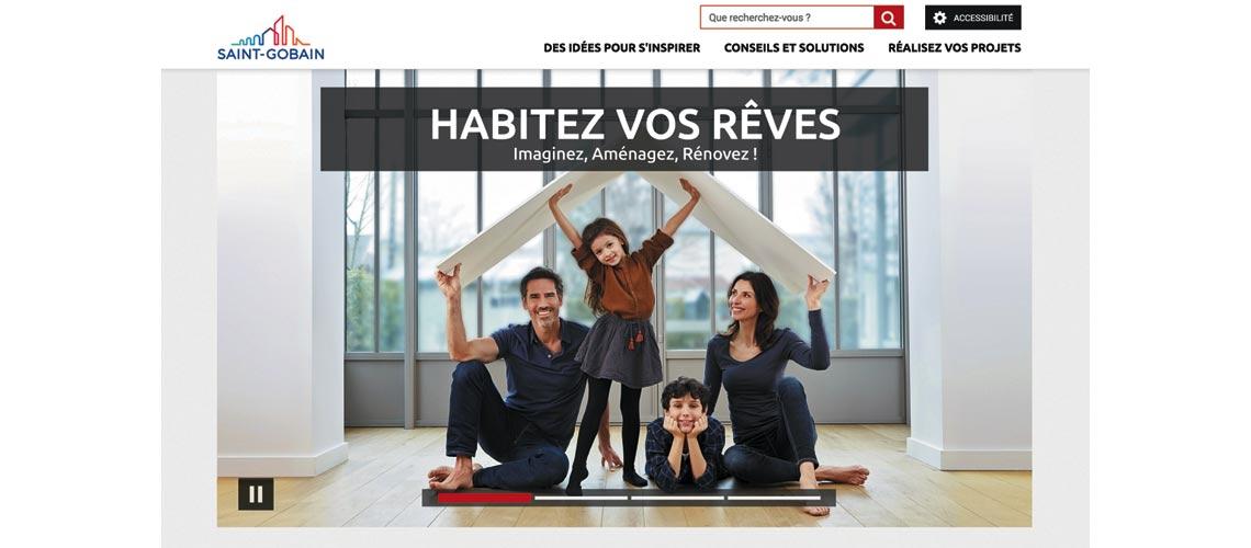 Saint-Gobain lance un nouveau site web : saint-gobain.fr