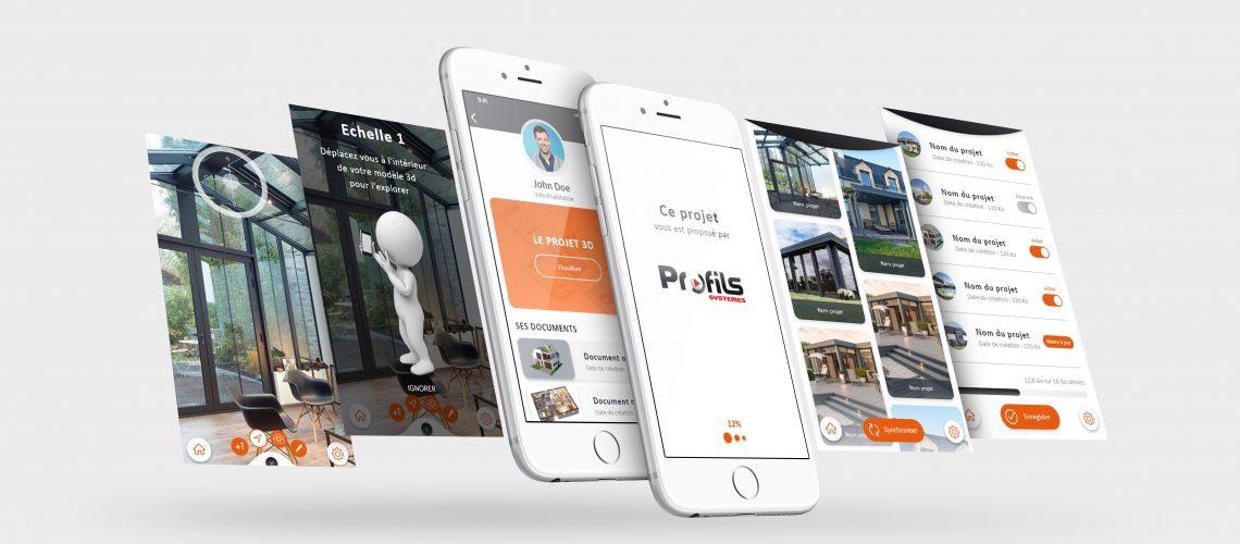 """Profils Systèmes lance son application de réalité augmentée """"Profils Systèmes 3D"""""""