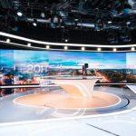 Saint-Gobain équipe de verres électrochromes Sageglass le nouveau plateau des journaux télévisés de TF1