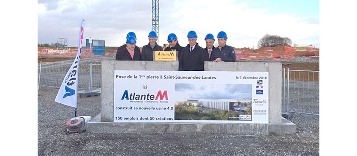 Atlantem pose la première pierre de son usine 4.0 de menuiseries AM-X à Fougères