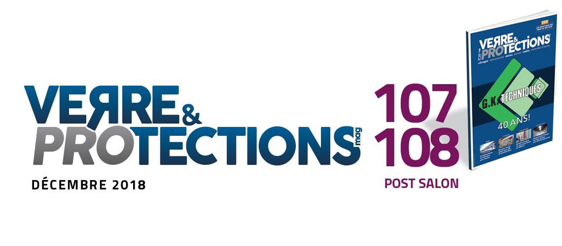 """Verre & protections magazine 107-108 """"post salon"""" en avant-première"""
