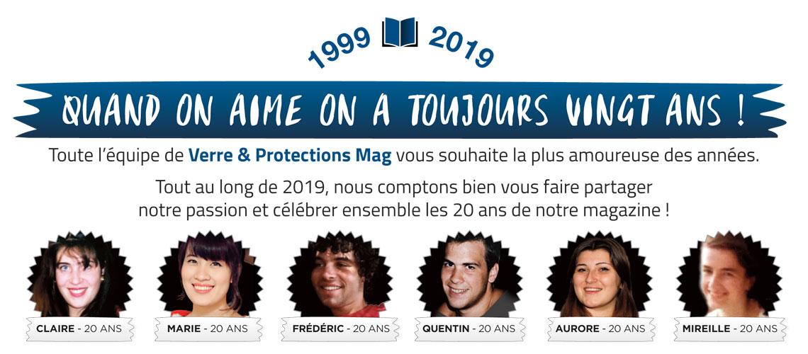 Nous vous souhaitons une belle et riche nouvelle année • 1999-2019 : 20 ans avec vous !