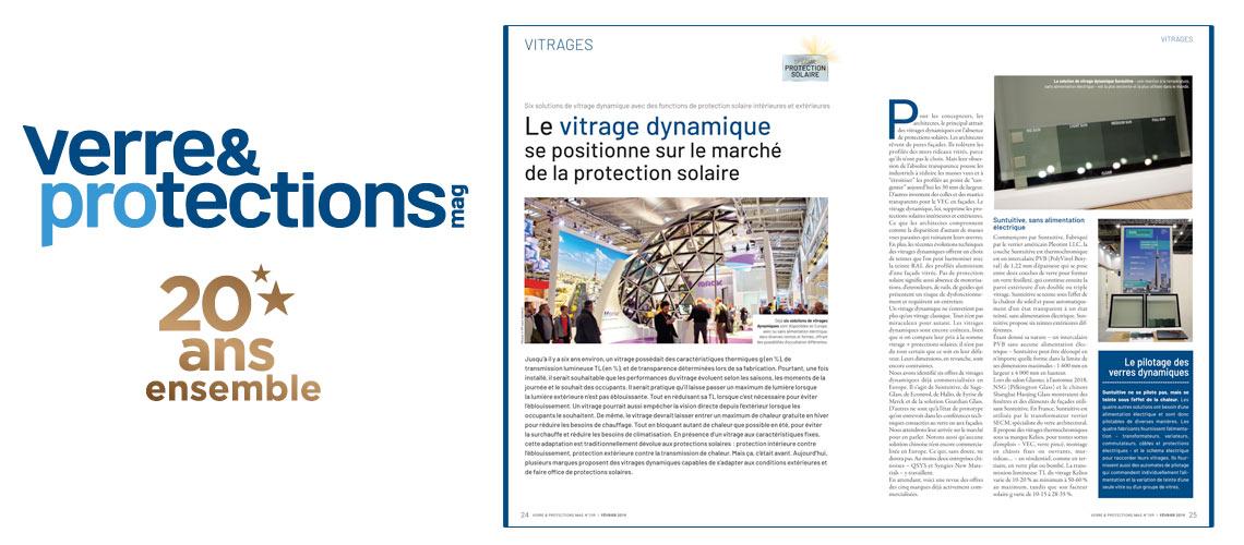 """""""Evolution de velours"""" pour Verre & Protections Mag"""