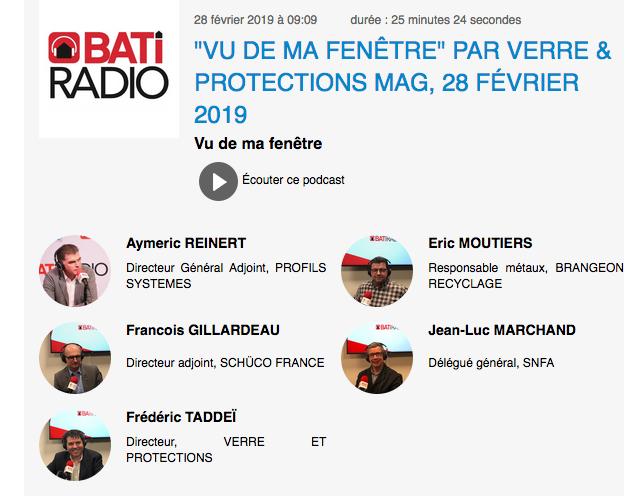 """Les bonnes pratiques de l'aluminium au cœur de l'émission """"Vu de ma Fenêtre…"""" sur BatiRadio"""