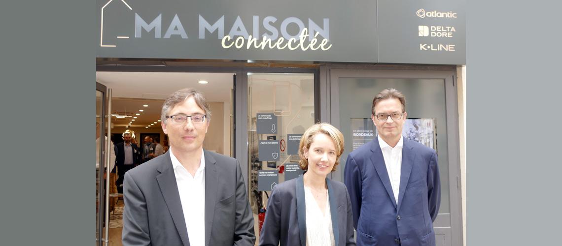 """Delta Dore, Atlantic et K•Line inaugurent """"Ma Maison Connectée""""au coeur de Bordeaux"""