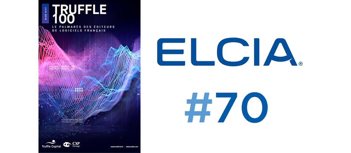Classement Truffle 100 - 2019 : Elcia 70ème plus important éditeur de logiciels en France