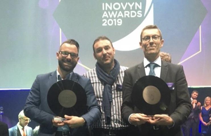 Disque de bronze aux Inovyn awards du salon K 2019 pour Benvic et Geplast