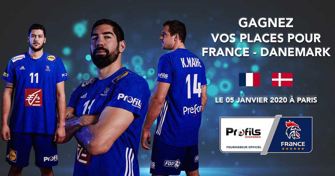 Profils Systèmes propose de gagner des places pour le match de Handball France-Danemark
