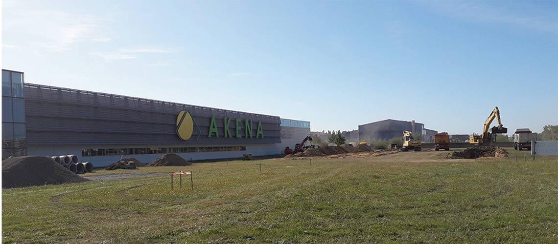Akena investit trois millions d'euros dans 5000 m2 d'extension