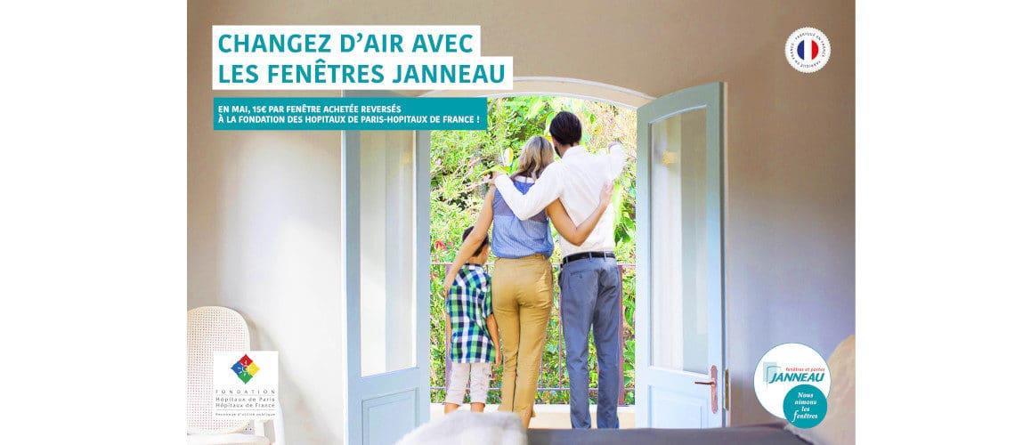 Janneau Menuiseries soutient la Fondation Hôpitaux de Paris-Hôpitaux de France