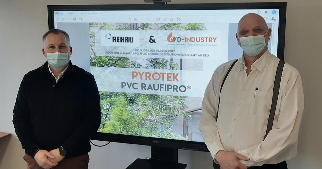 Faire résister le PVC au feu : nouveau partenariat entre VD-Industry et Rehau