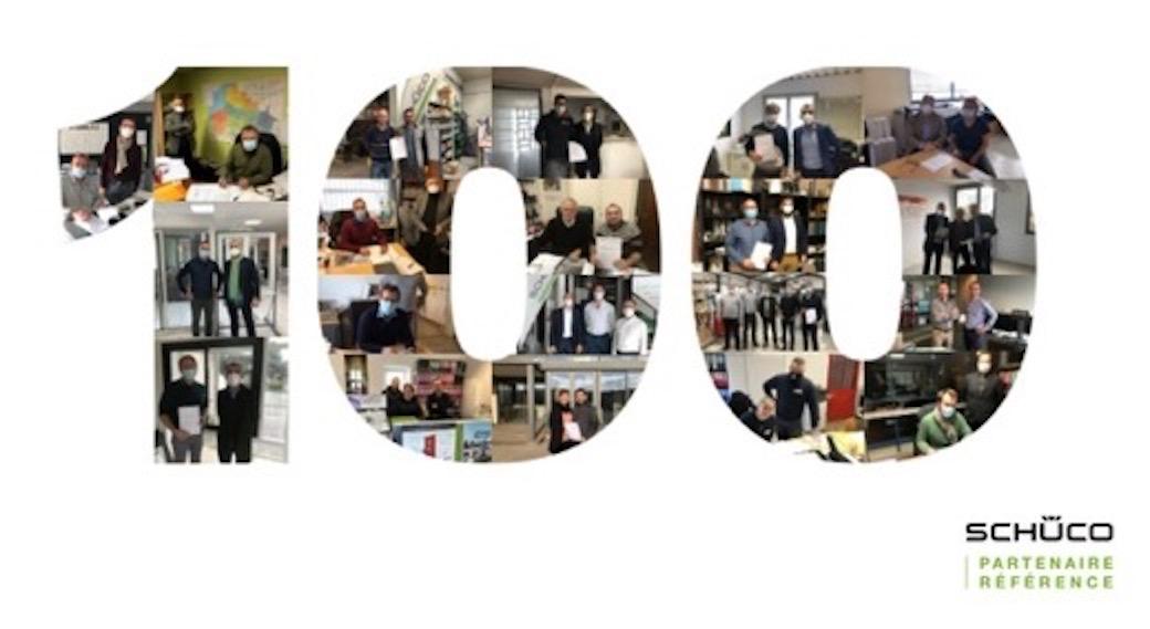Le réseau Partenaires Référence de Schüco compte désormais  100 partenaires