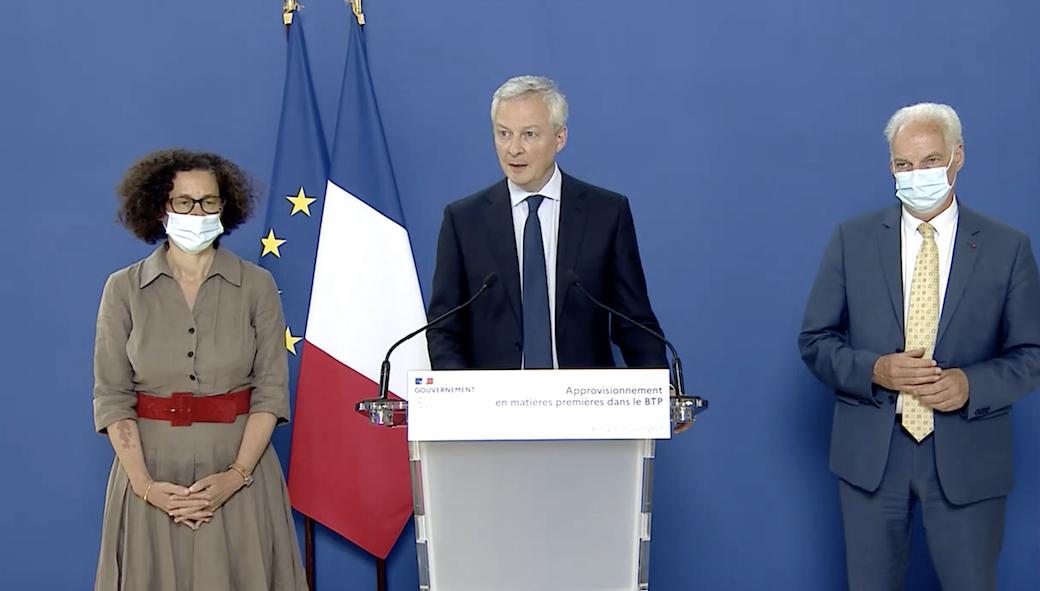 Pénuries de matériaux, Bruno Le Maire annonce des mesures