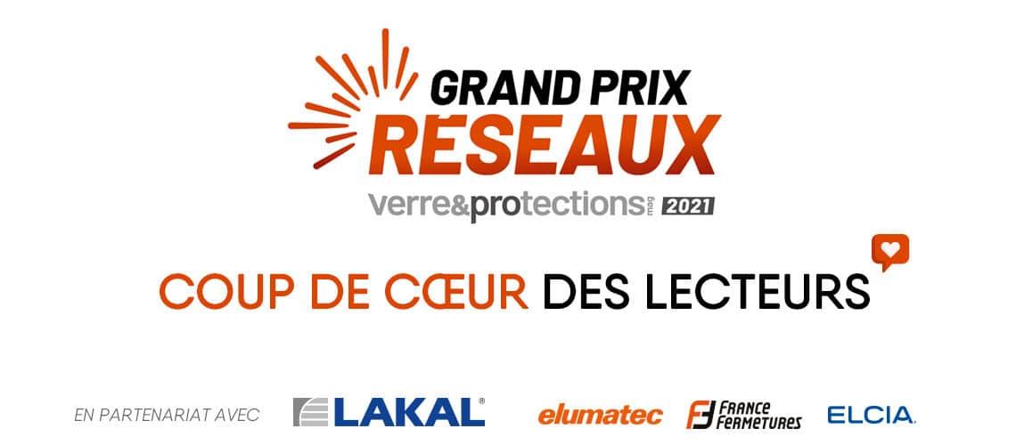 """Votez pour le """"Coup de cœur des lecteurs"""" du Grand Prix des Réseaux – Verre & Protections Mag 2021"""