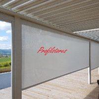 Fabricant store ZIP anti-vent type par Profilstores pour grandes dimensions sur mesure !!!